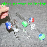 Mini Nectar Collector Kit avec 10 mm 14mm quartz clou Mini verre Oil Pipe Concentré Rig Pipes Dab paille eau