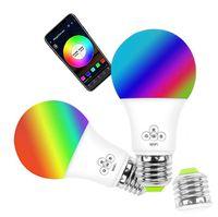 لمبة LED ذكية للرقص الطرفي ، مصباح LED عاكس الضوء TP-Link ، يعمل مع مصباح تغيير لون RGB مساعد Alexa من Google