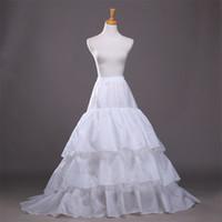 Brand New Petticoats mit Zug für formales Kleid Brautkleid 3 Ebenen Weiß / Schwarz Big Hochzeit Beleg Underskirt Braut Krinoline