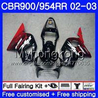 Cuerpo para HONDA CBR900RR CBR 954 RR Nuevo rojo negro caliente CBR954RR 02 03 CBR900 RR 280HM.44 CBR 900RR CBR954 RR CBR 954RR 2002 2003 kit de carenado