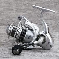 Metal Spinning Fishing Reel 14BB CNC carbono Rocker LH2000-5000 engrenagem 5.2: 1 Pega EVA Peixe Whee Pesca