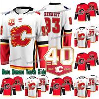 40. Yıldönümü Sam Bennett Forması Calgary Flames Austin Czarnik Elias Lindholm David Rittich Hanifin Kylington Frolik Jankowski Mangiapane