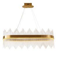 Moderno oro de lujo Cristal Chandelier Suspensión Casa Sala de estar Colgante Colgante Lámpara Luz de techo Luminaria PA0523