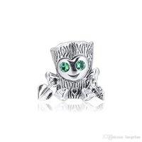 2019 originale 925 bijoux en argent sterling doux arbre monstre charme perles Bracelets Europe Pandora Fits Collier pour les femmes Faire
