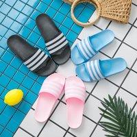 Sommer Haus Hausschuhe Frauen Männer Flache Schuhe Gestreiften Design Liebhaber Bad Slipper Lässig Strand Slipper