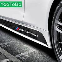 Araba Şekillendirme En Yeni M Performans Yan Çizgili Etek Eşiği Sticker çıkartma BMW F30 F31 X5 F15 G30 F20 F22 E90 F10 F11 F01 F02