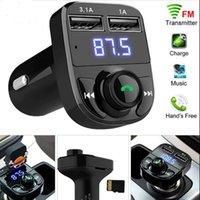 무선 블루투스 핸즈프리 차량용 키트 FM 송신기 MP3 플레이어 듀얼 USB 충전기