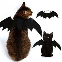 موضة جديدة لطيف هالوين الحيوانات الأليفة الصغيرة بات الأسود أجنحة القط زينة حلي الديكور