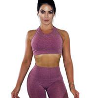 Oco Malha Exposed Yoga Macacões Corrida Justa-ajuste Correndo Sportswear Roupas Ginásio de Fitness Terno 2 Peças Conjuntos de Faixas das mulheres