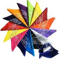 남성 여성을위한 후드 스카프 multicolors에서 머플러를 타고 페이즐리 무늬 카우보이 힙합 반다나 손수건 패션 마스크 인쇄 광장