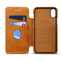 الرجعية فتحة بطاقة الهاتف القضية ل iphone12 11 × 7 8 صدمات الجلود الغطاء ل iphone11pro 7plus xs ماكس xr حالة واقية