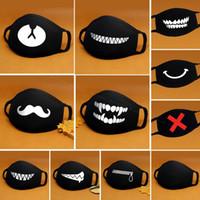 Máscara facial Boca Dibujos de algodón Negro Anti-Polvo Anti polución mascarilla respiratoria Máscaras Moda lindo oso Kpop animal boca cara