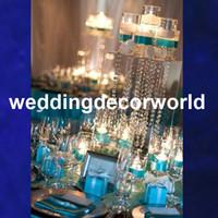 Nuevo estilo de mesa de cristal centros de araña de cristal para la boda decoración del pasillo decoración candlelabra party wedding decor299