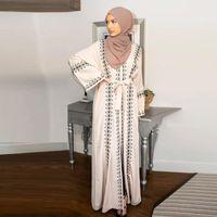Türkei Cardigan Abaya Eid Hijab muslimischen Kleid Ramadan islamische Kleidung Abayas für Frauen Dubai Kaftan Jilbab Robe Ropa Mujer UAE