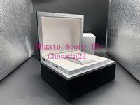 Высокое качество Черный Оригинальная коробка Mens женщины Часы Шкатулки Мужские наручные часы Box Сертификаты Wood Box для IWC часы