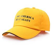 Machen Sie Amerika toll wieder Hutkappe Donald Trump Republikanische Baseballmütze Weihnachtsgeschenk Baseballkappe Snapback Caps 9 Farben DHA396