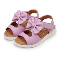 LONSANT kids shoes Lighted Soft Leather Bowknot Girl Sandals...