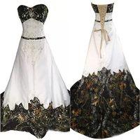 Винтажные камуфляжные свадебные платья вышивка вышивка линейной бисером на шнуровке без спинки возлюбленные поезда камуфляж свадебные платья плюс размер ср. Платье