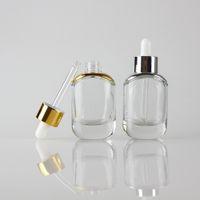 Moda cam damlatma şişesi 1oz Hotsale ambalaj uçucu yağ, kozmetik kabın açık 30ml serum cam şişe damlalık 30ml