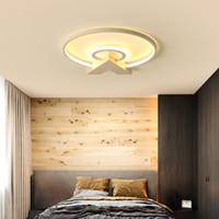 Postmodern minimalist tavan lambası otel odası yatak odası için çalışma odası kişilik sanat ile büyük lobi akrilik tavan ışık RC Dim