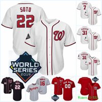 трикотажные изделия 22 Juan Soto 2019 World Series Patch 37 Райан Циммерман Анибал Sanche Howie Кендрик Шерзер Треа Turner Dozier Rendon Gomes