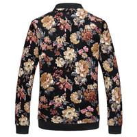 Flower Jacket Men Fashion Casual Herren Designer Jacken und Mäntel Reißverschluss Stehkragen Print Streewear