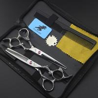 6 pouces de haute qualité Couper Cisses de coiffure professionnelle Ciseaux de coiffure Tool Tool de coiffure Cisailles Ceux de cisailles Salon d'amincissement