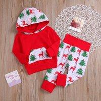 크리스마스 아기 옷 신생아 소녀 후드 바지 2 개 세트 디자이너 소년 의상 크리스마스 아기 의류 2 DW4827 디자인