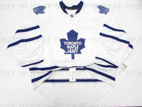 Cheap custom TORONTO MAPLE LEAFS AWAY JERSEY GOALIE CUT stit...