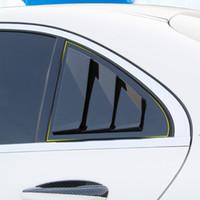 자동차 스타일링 후면 창 삼각형 셔터 장식 스티커 Mercedes Benz W176 C117 CLA 수업을위한 검정색 트림