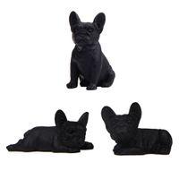 مل 3pcs الفرنسية بلدغ نحت نموذج الراتنج الحيوان كلب نموذج الراتنج الكلب التماثيل
