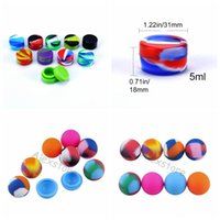 Mix Style ball holder food grade silicone jars dab wax oil c...