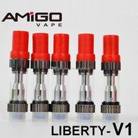 원래 아미고 자유 V1 증기 왁스 기화기 iTsuwa V1 분무기 Vape 펜 (510 개) 카트리지 0.5ml의 1.0 ㎖ 두꺼운 유리 탱크 분무기 윅 코일