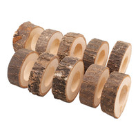 10pcs Hotel Craft Rustic Birthday Groove Bar Napkin Ring Cir...
