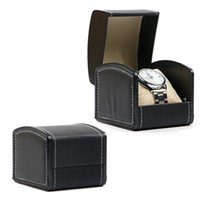 Watch Box Luxury Faux Leather Flip Simple Bracelet Watch Box...