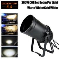 Tiptop Stage Light 200W COB cor branca LED Zoom PAR Luz Indoor LED Zoom Estágio Luz Lençóis DMX-512 Iluminação Laser Projetor Party