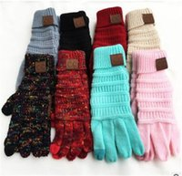 2019 CC Knitting Touch Screen Glove Capacitive Gloves CC Wom...