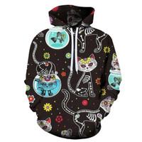Новая мода весна осень мужчины и женщины Животные Наивные Кошки 3D Толстовки Cat игры Мужчины Женщины Пуловеры Толстовки Hip Hop Tops