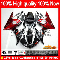 Bodys For YAMAHA YZF R6 S YZF600 red flames hot YZF- R6S YZFR...