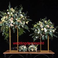 Düğün dekorasyon zemin ayakta mumluklar çiçek arch düğün kapı düğün için giriş kapısı backgroup 186