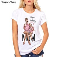 T-shirt Super Mom Femme L'amour de Mère Imprimé T-shirt Blanc Harajuku Tshirt Vogue Tops T-shirt Femme Vogue Super Mama TShirt