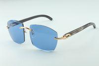 Hot novos óculos A4189706 texturizados templos chifre de búfalo naturais selvagens preto, fábrica de qualidade superior direto óculos de moda unissex