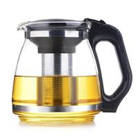 Bule de vidro resistente ao calor transparente e grosso conjunto de chá hotel chá chaleira filtro fabricante de chá doméstico