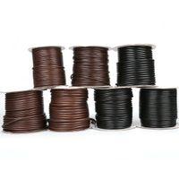 30-80meters/ролл ожерелье кожаный шнур диаметр 2.5 мм / 3 мм / 3.5 мм/4 мм / 5 мм корейский круглый воском шнур нить для ожерелья ювелирные изделия