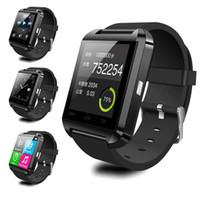 Smartwatch بلوتوث سمارت ووتش u80 ل فون ios الروبوت الهاتف الذكي ارتداء ساعة للجهاز يمكن ارتداؤها Smartwach PK U8 GT08 DZ09 W8