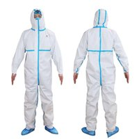 SMMS non- woven White Coverall Hazmat Suit Protection Protect...
