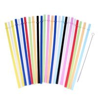 Colorful PVC Plastic Pure Color Straws Kitchen Paper Drinkin...