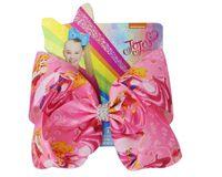 JOJO SWIA calientes de la venta 8pcs 8 pulgadas helado de Arcos de la sirena del arco iris del unicornio Impreso arco hecho a mano para niñas Boutique pelo Clip Accesorios para el cabello
