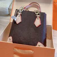 La bolsa de asas del viaje de Crossbody del bolso del equipaje de la flor clásica vieja moda accesorios de hardware remiendo Letra L bolsos de las mujeres del envío gratis