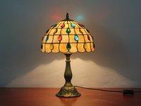 تيفاني الجدول مصباح e27 ستة نماذج اليعسوب نمط غرفة نوم السرير مصباح الإبداعية الأزياء الرجعية الجدول ضوء